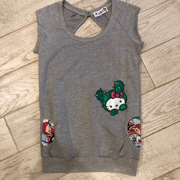 bca30a56a9697 Tokidoki for Hello Kitty Cactus Top Shirt